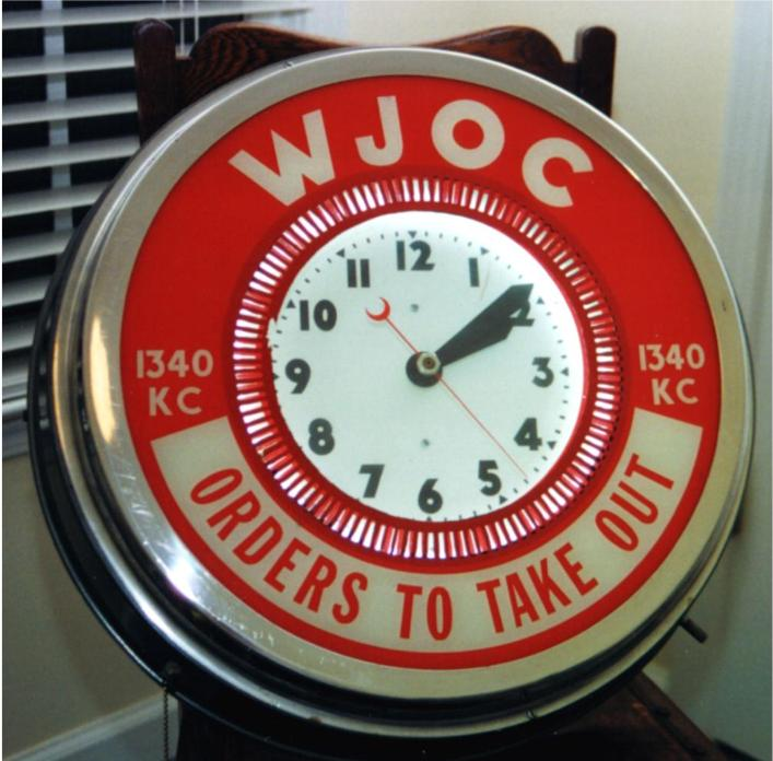 Neon Clocks for Radios or TV Stations